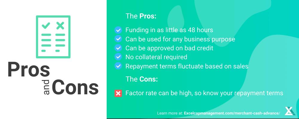 Merchant Cash Advance - Pros and Cons