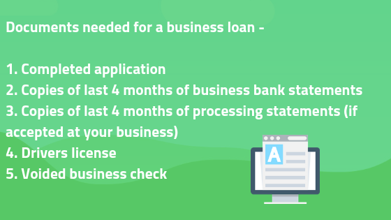 Documents needed for small business loans bad credit