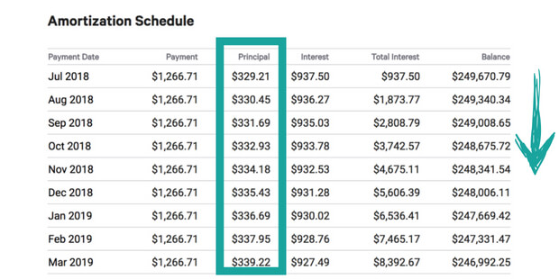 EXCEL CAPITAL - AMORTIZATION SCHEDULE