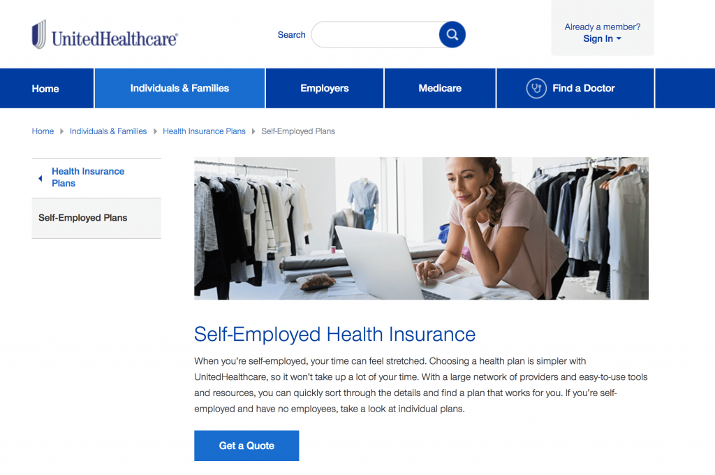EXCEL CAPITAL - SELF-EMPLOYED HEALTH INSURANCE - UNITED