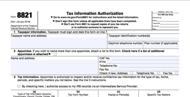 What Is Form 8821?