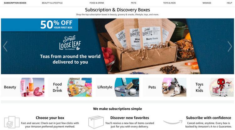 TOP TRENDING BUSINESS IDEAS 2019 - Amazon Subscription Boxes