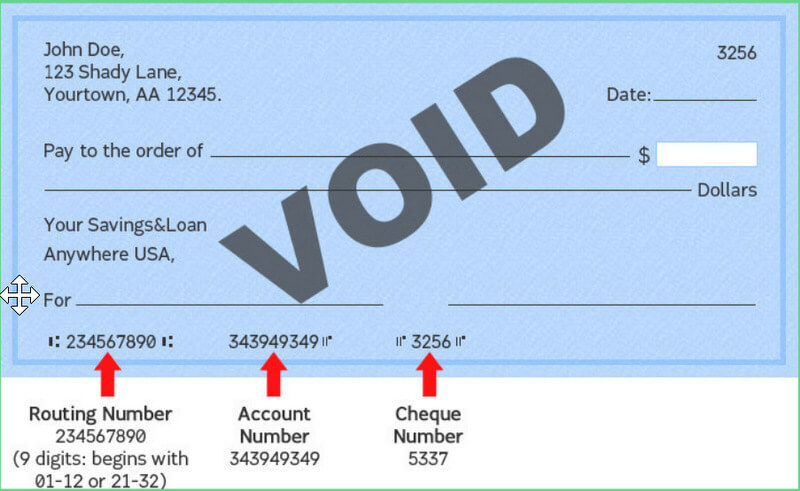 What is a voided check? How to void a check example
