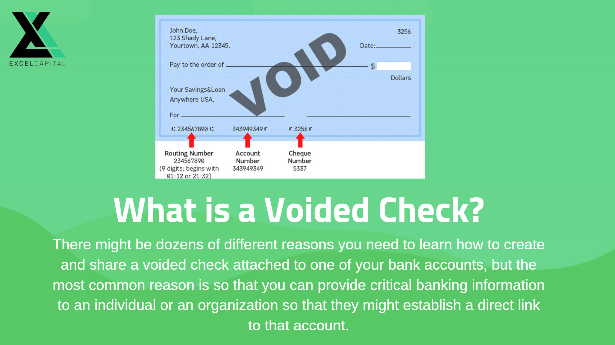 what is a voided check