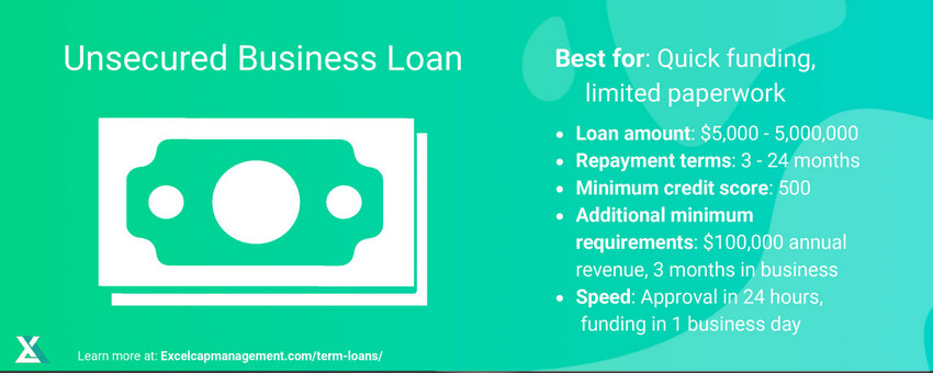 EXCEL CAPITAL - UNSECURED BUSINESS LOANS