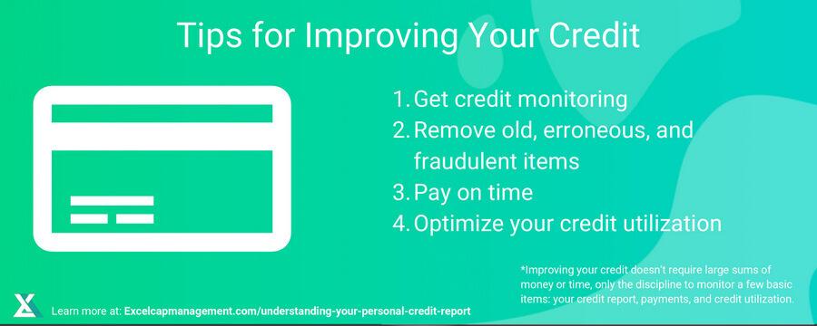 EXCELCAPITAL - UNDERSTANDING YOUR PERSONAL CREDIT REPORT