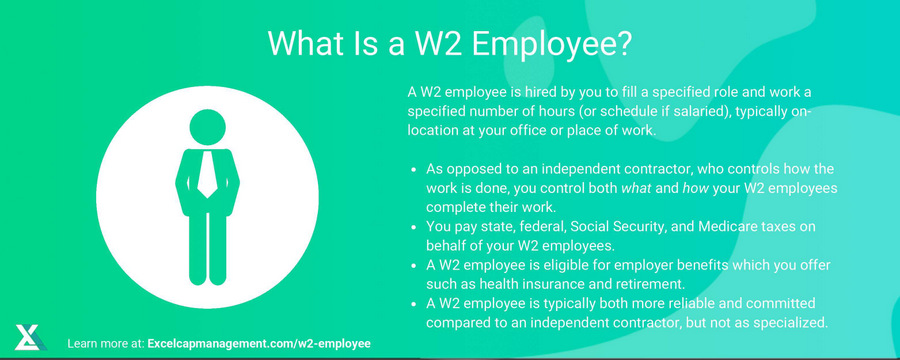 EXCELCAPITAL - W2 Employee