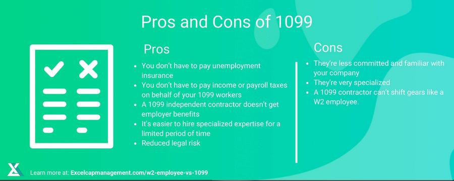 EXCELCAPITAL - w2 employee vs 1099