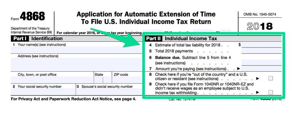 IRS PERSONAL TAX EXTENSION