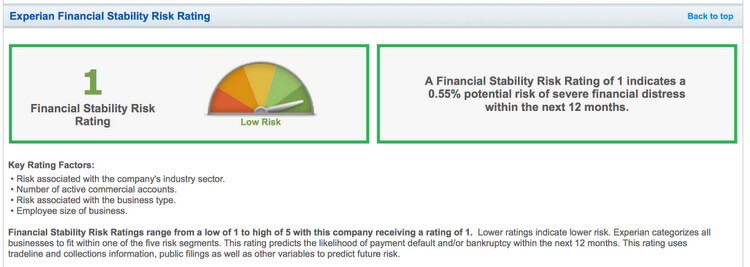 BUSINESS CREDIT REPORT 2
