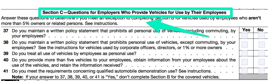 IRS_FORM_4562 PART 5 SECTION C