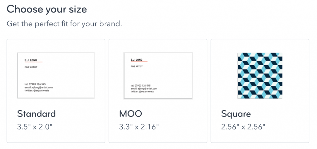 Moo business card template