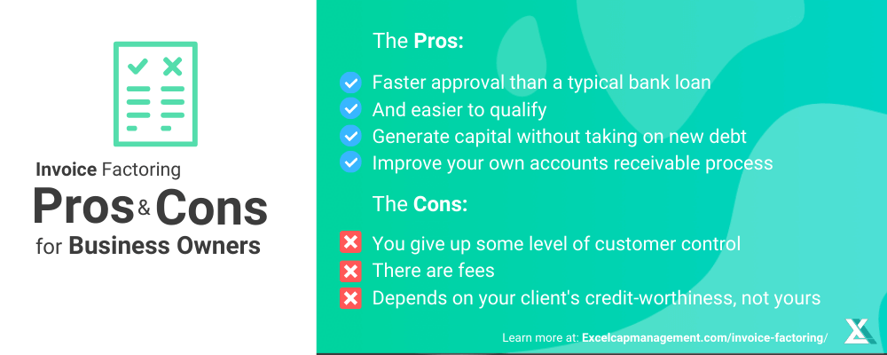 PROS AND CONS OF INVOICE FACTORING