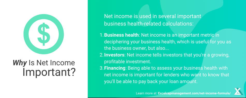 EXCELCAPITAL - NET INCOME FORMULA