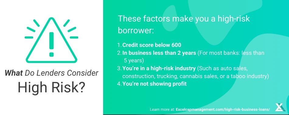 HIGH-RISK BUSINESS LOANS