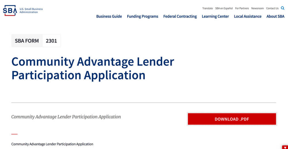 Community Advantage Lender - Minority Business Loans