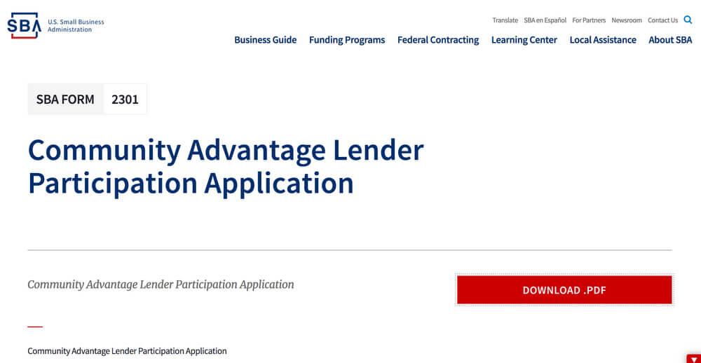 Community Advantage Lender - Minority Business Loans