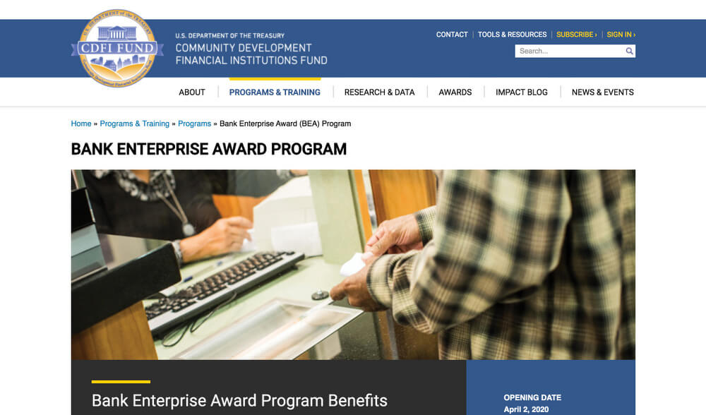 CDFI Fund - Minority Business Loan Programs